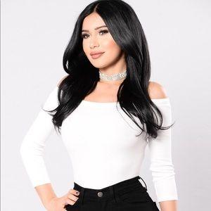 Fashion Nova XL White Bodysuit